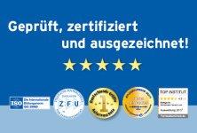 Zertifiziert und ausgezeichnet!