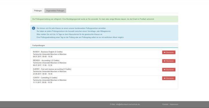 Slide Prüfungsanmeldung Online-Campus