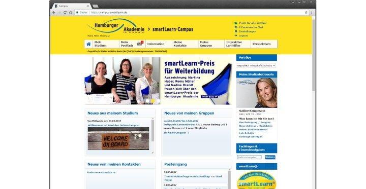 Slide Der smartLearn-Campus – die Online-Lernplattform