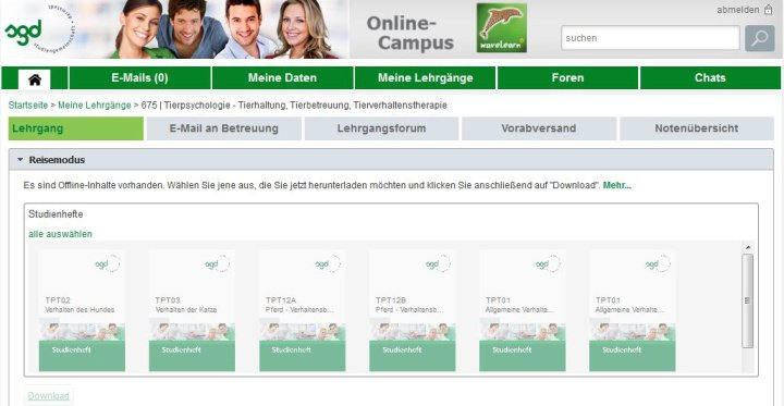 Slide Nutzen Sie den Online-Campus waveLearn auch offline im Reisemodus