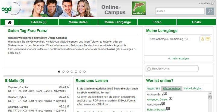 Slide Mehrfach Ausgezeichnet: der Online Campus waveLearn