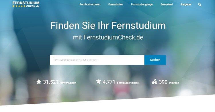 Stiftung Warentest zeichnet FernstudiumCheck als Testsieger aus